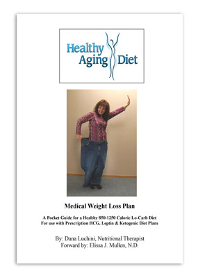 The Healthy Aging Diet Medical Weight Loss Plan: A Pocket Guide for a Healthy 850-1250 Calorie Lo-Carb Diet by Dana Luchini CNT